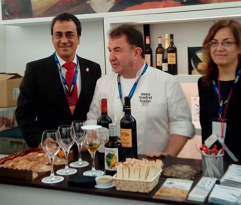 El magnífico cocinero Martín Berasategui tuvo a bien conocernos.