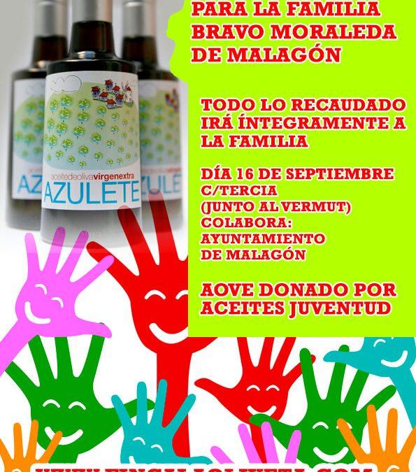 """Venta soldaria de """"Azulete"""" para ayudar a la familia Bravo-Moraleda de Malagón"""