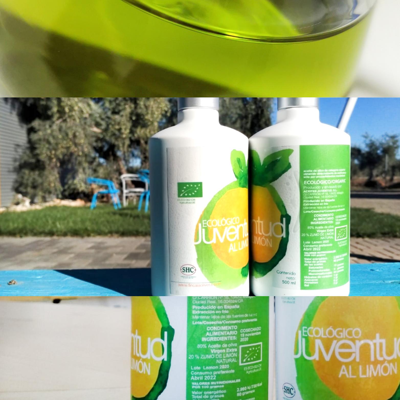 aceite de oliva virgen extra al limón